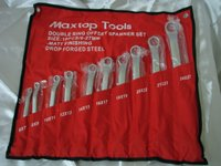 Maxtop Tools Double Ring Offset Spanner Set- 10 pcs